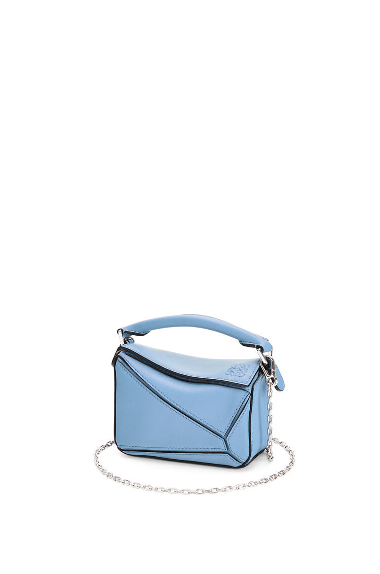 LOEWE Nano Puzzle bag in classic calfskin Light Blue pdp_rd