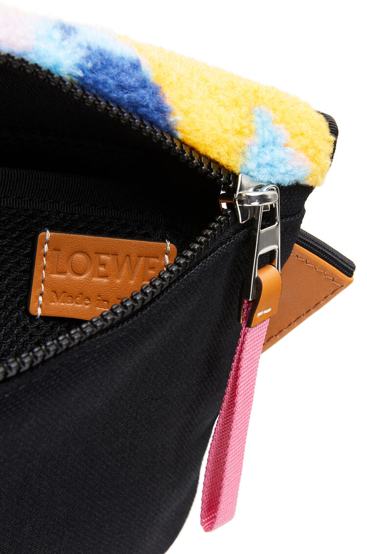 LOEWE Small Messenger in camo fleece and canvas Multicolor pdp_rd