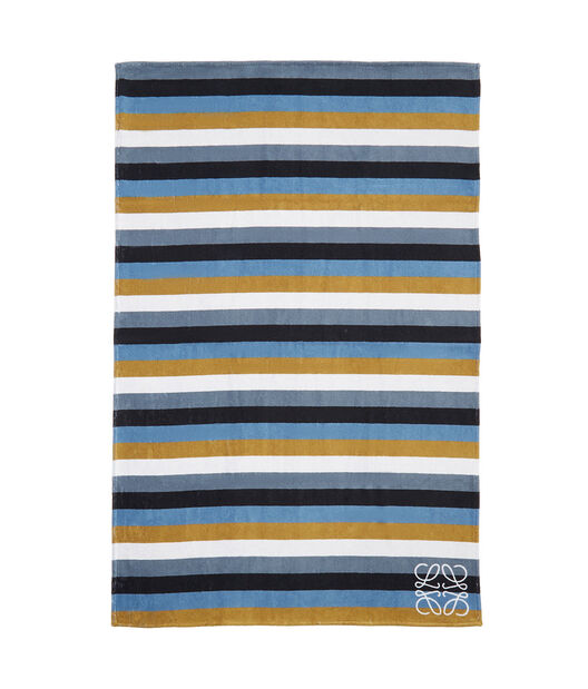 LOEWE 105X170 Towel Stripes Marron Chocolate/Marron front