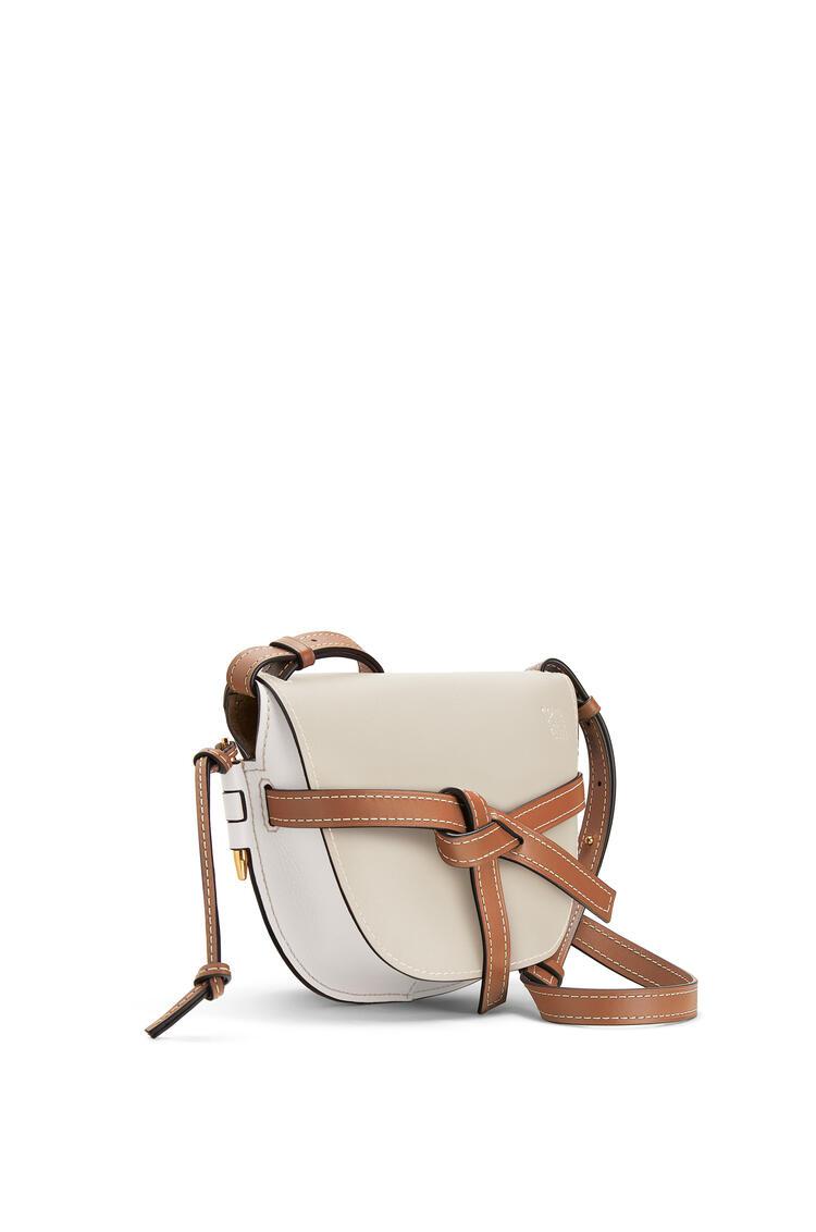 LOEWE Small Gate bag in soft calfskin Light Oat/Soft White pdp_rd