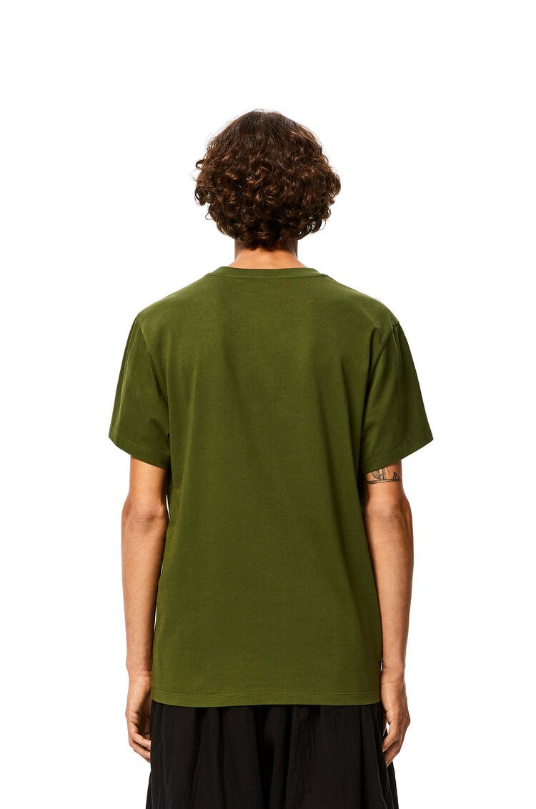 LOEWE Anagram embroidered t-shirt in cotton Khaki Green pdp_rd