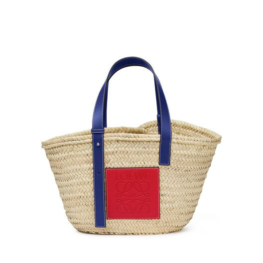 LOEWE London Basket Bag Natural/Primary Red front