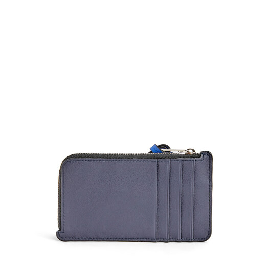 LOEWE Coin Cardholder Large Animals Midnight Blue/Electric Blue front