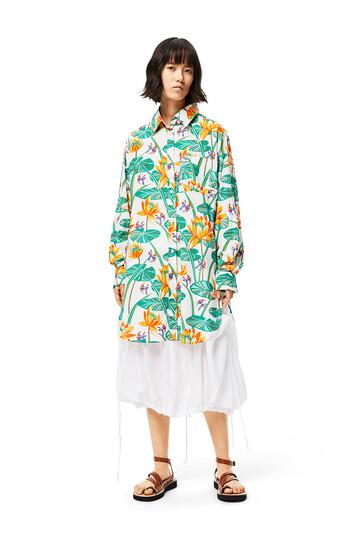 LOEWE Cargo Skirt In Linen 白 front