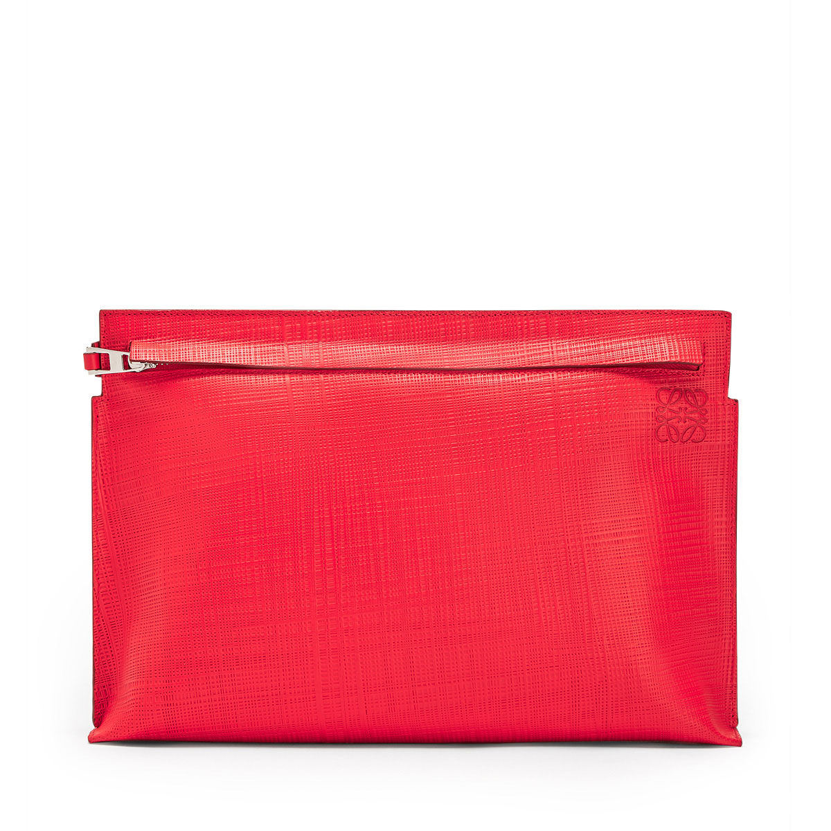 LOEWE T Pouch Linen Primary Red/Palladium all