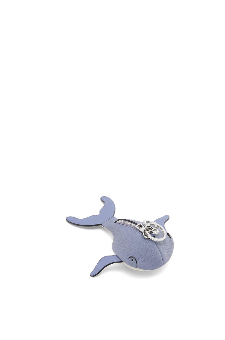 LOEWE Whale charm in soft grained calfskin Blueberry/Soft White pdp_rd