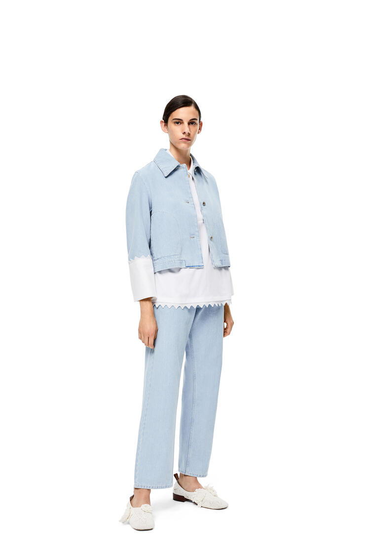 LOEWE Embroidered Back Pocket Jeans In Cotton Light Blue pdp_rd