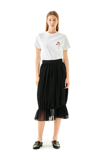 LOEWE Balloon Ruffle Skirt Black front