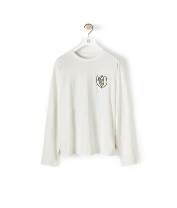 LOEWE Eln Long Sleeve T-Shirt White front