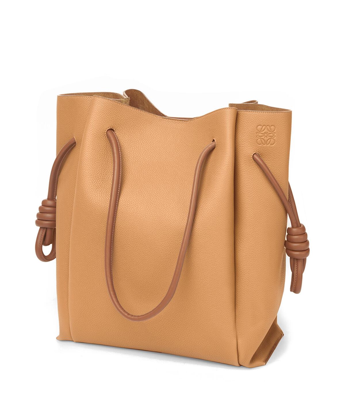 LOEWE Flamenco Knot Tote Bag Light Caramel/Tan all