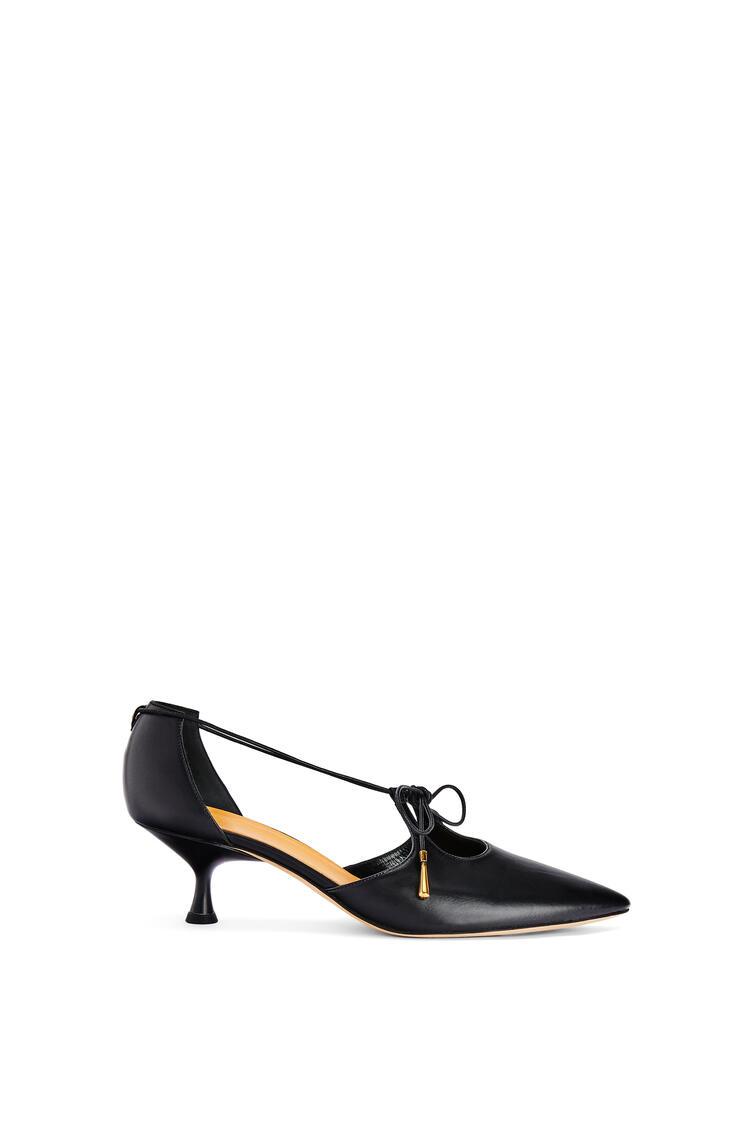 LOEWE Zapato de salón 50 en piel de ternera con tiras Negro pdp_rd