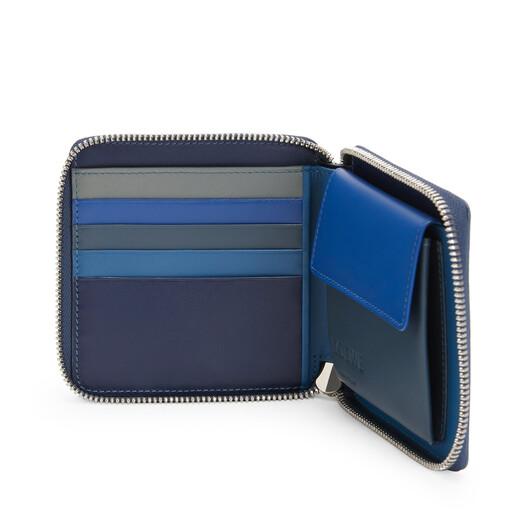 LOEWE Rainbow Squared Zip Wallet Multicolor front