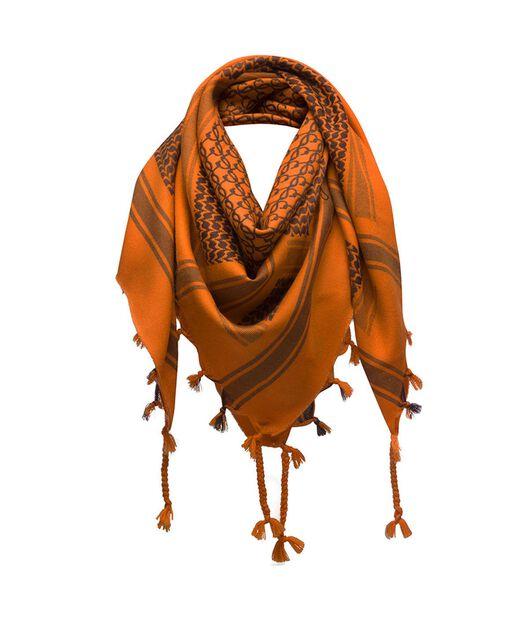 LOEWE 120X120 スカーフ クーフィーヤ  オレンジ all