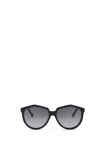 LOEWE Oversized Sunglasses in acetate Black pdp_rd