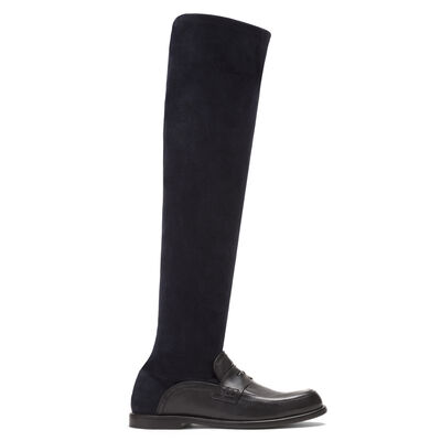 LOEWE High Sock Boot Black/Navy Blue front