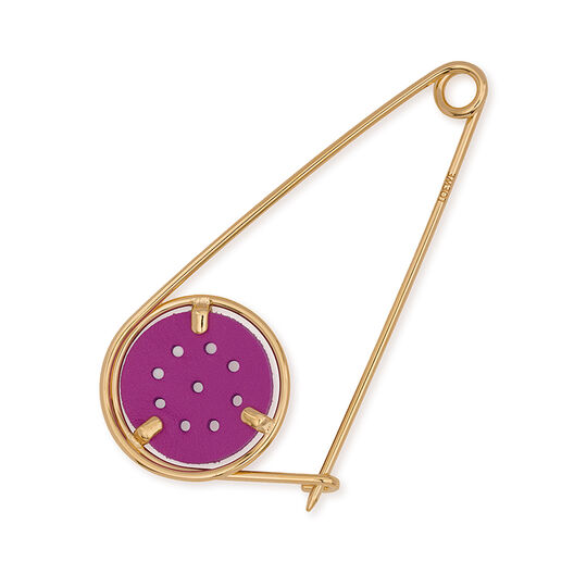 LOEWE Small Meccano Pin lilac/gold front
