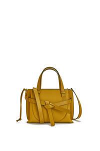 LOEWE Mini Gate Top Handle bag in soft grained calfskin Ochre pdp_rd