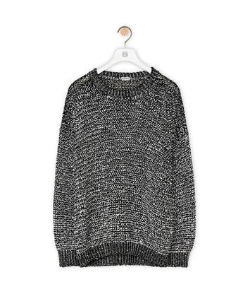 LOEWE Melange Sweater 黑色/白色 front