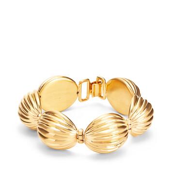 LOEWE Mini Nutshell Bracelet Gold front