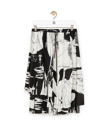 LOEWE Salome Print Skirt Negro/Blanco front