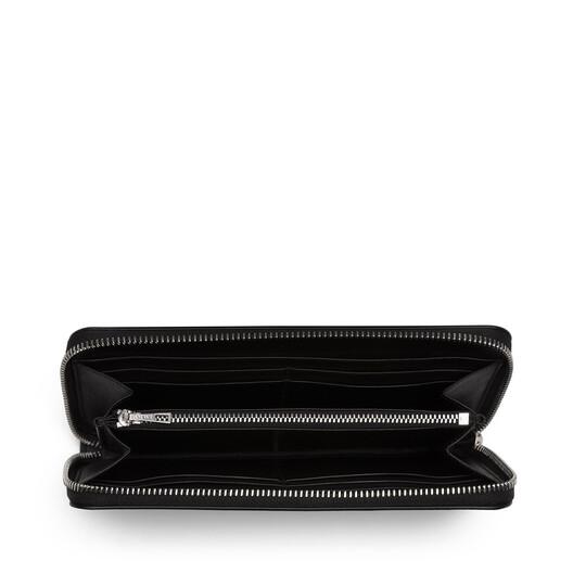 LOEWE Puzzle Zip Around Wallet Pink Tulip/Mocca front