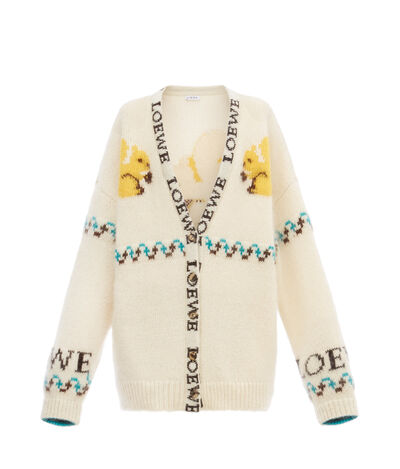LOEWE Squirrels Cardigan Off-White front