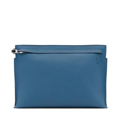 LOEWE T Pouch Bicolor Duke Blue/Marine front