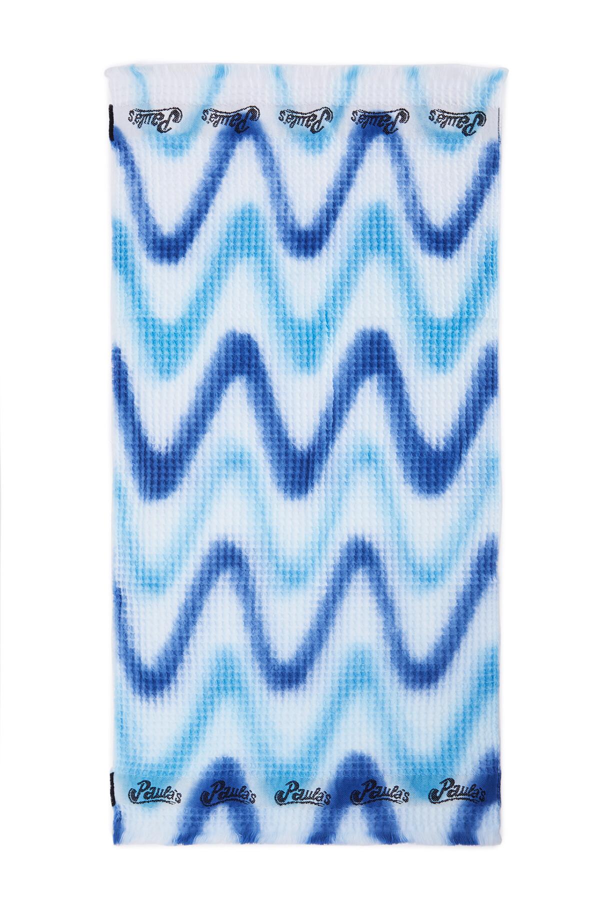 LOEWE 42Cm X 92Cm Waffle Towel In Tie Dye Cotton White/Blue/Navy Blue front
