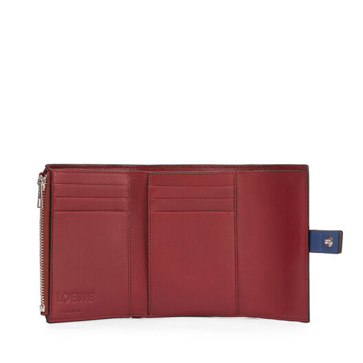 LOEWE Small Vertical Wallet Varsity Blue/Honey front