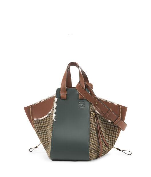 LOEWE Hammock Tweed Medium Bag Cypress/Tan all