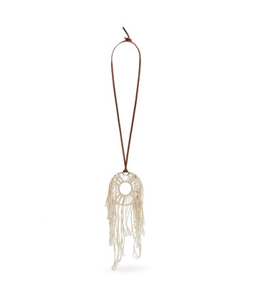 LOEWE Paula Dream Catchers Necklace Soft White front