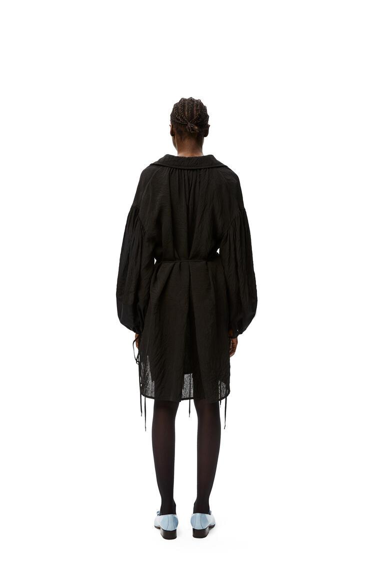 LOEWE Peasant mini dress in viscose Black pdp_rd