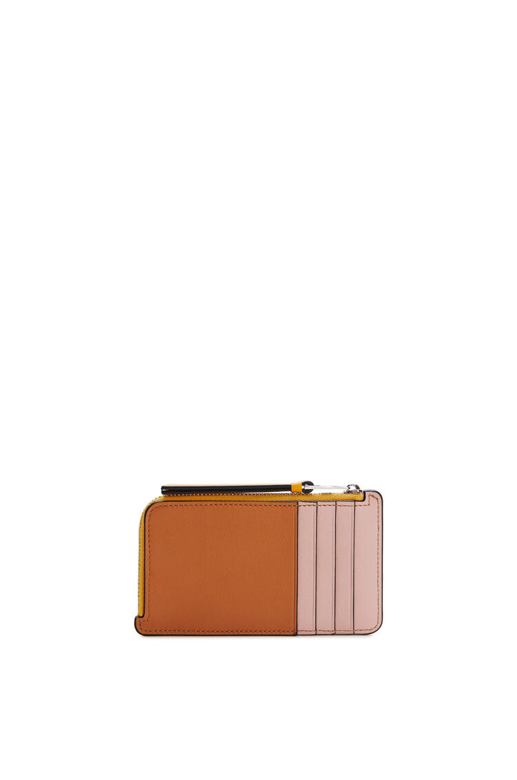 LOEWE Coin cardholder in classic calfskin Yellow Mango/Multicolor pdp_rd