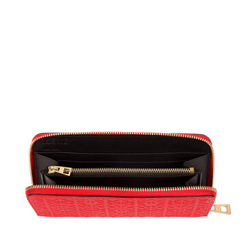 LOEWE Repeat Zip Around Wallet 正红色 front