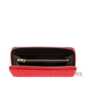 LOEWE Repeat Zip Around Wallet Primary Red front
