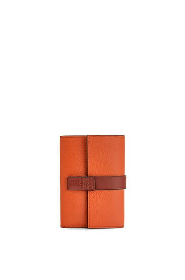 LOEWE Small vertical wallet in soft grained calfskin Coral/Soft Apricot pdp_rd