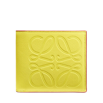 LOEWE Brand Bifold Wallet Lime front