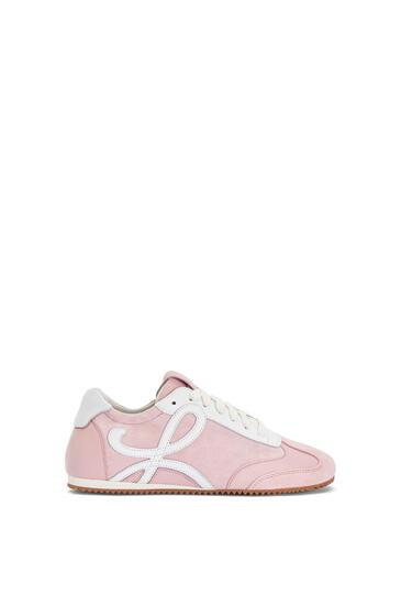 LOEWE Zapatilla Ballet runner en piel de ternera Rosa/Blanco pdp_rd