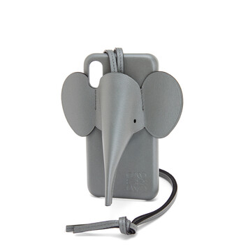 LOEWE Elephant Cover For Iphone X/Xs Gunmetal front