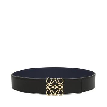 LOEWE Anagram Belt 4Cm Black/Navy/Gold front
