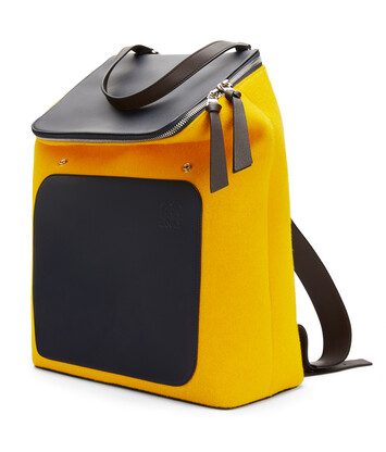 LOEWE Goya Backpack Marine/Yellow front