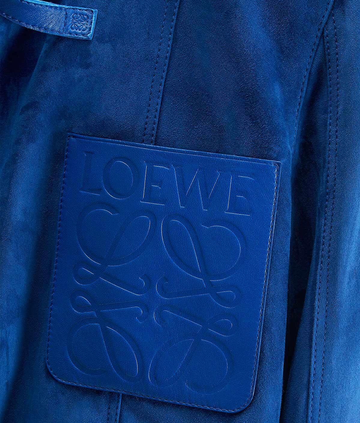 LOEWE Chaqueta Corta Azul Royal Oscuro all