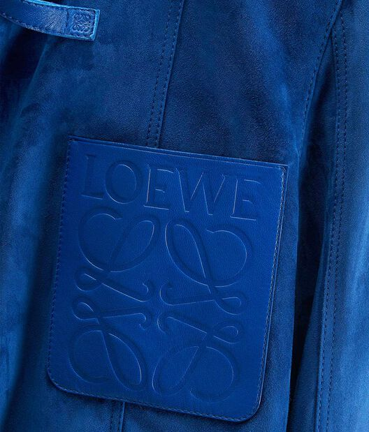 LOEWE Chaqueta Corta Azul Royal Oscuro front