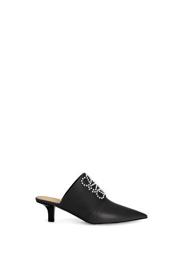 LOEWE Pointy heel mule in calfskin 黑色 pdp_rd