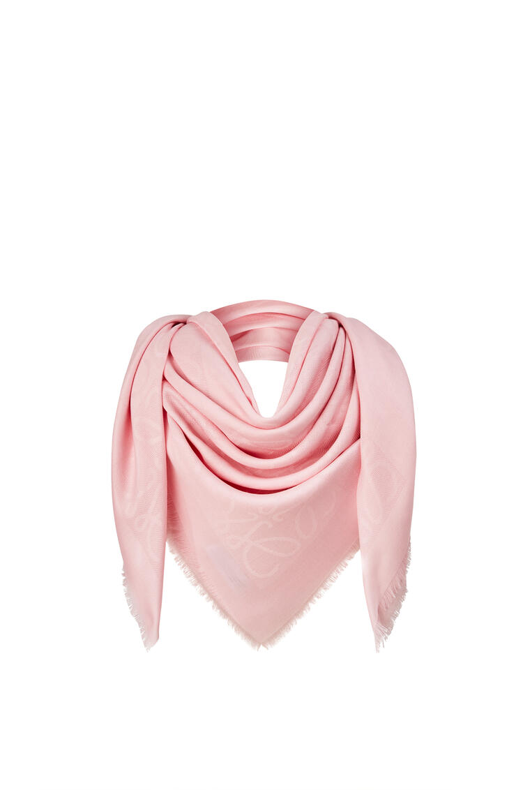 LOEWE Damero scarf in wool, silk and cashmere Orchid pdp_rd