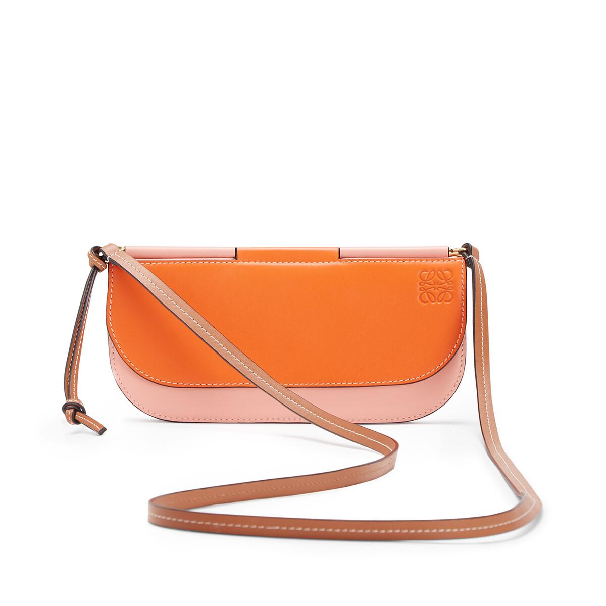 LOEWE Gate Pochette Orange/Blossom front
