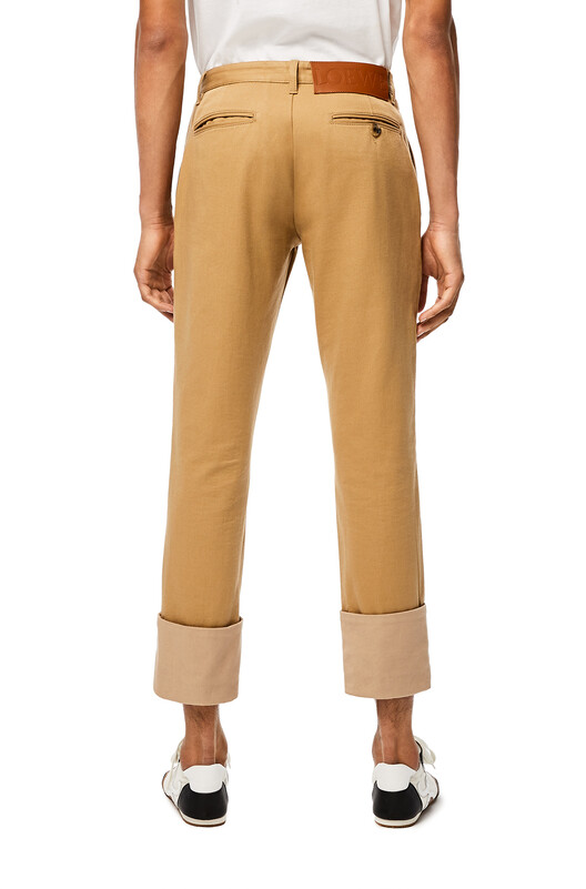 LOEWE Chino Turn Up Trousers Camel front
