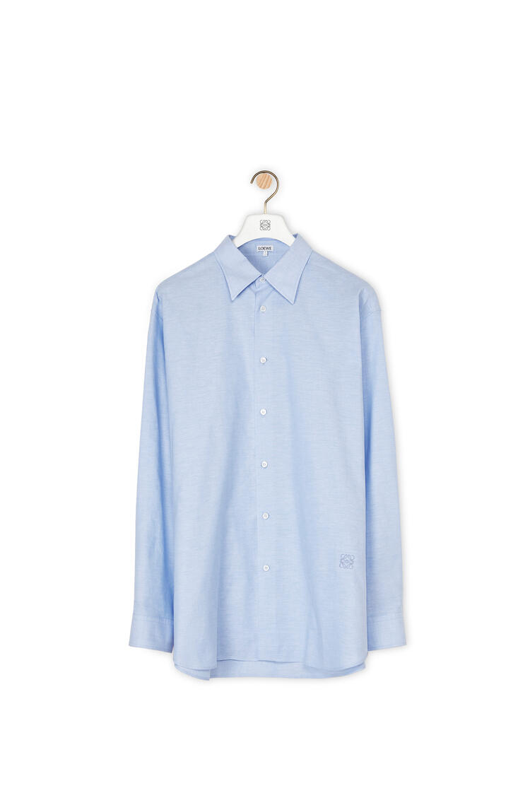LOEWE Oxford Shirt In Cotton Blue pdp_rd