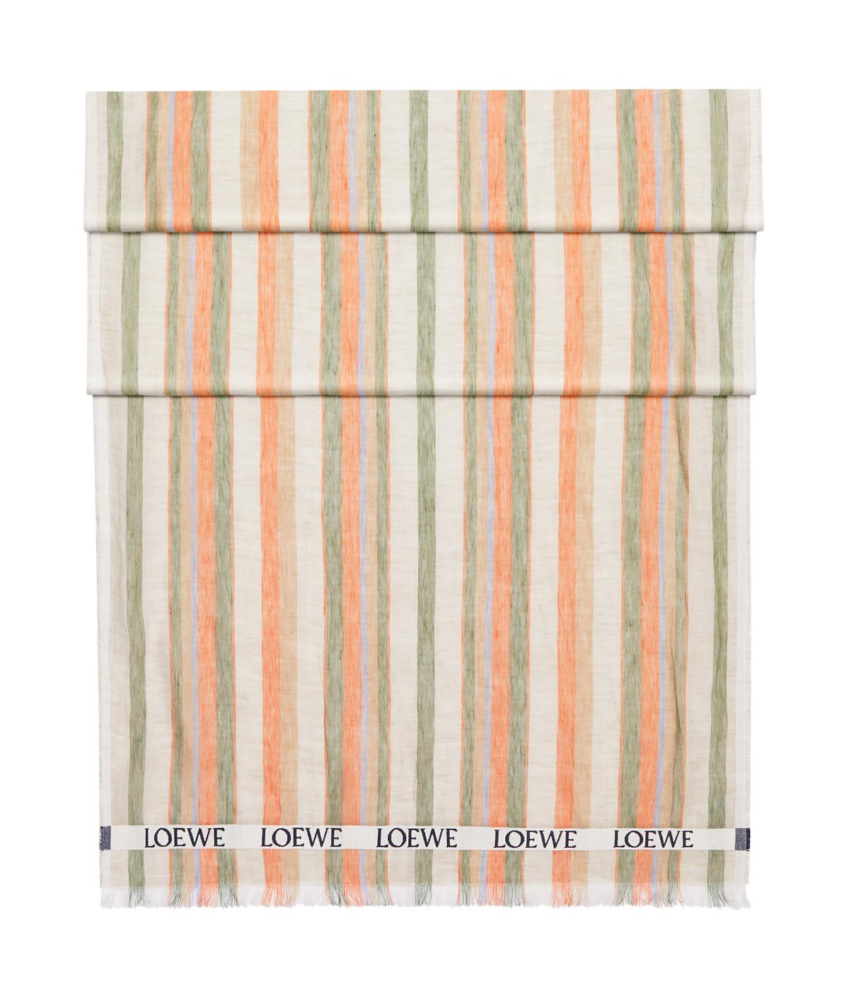 LOEWE 70X210 Scarf Loewe Stripes Multicolor/Orange front