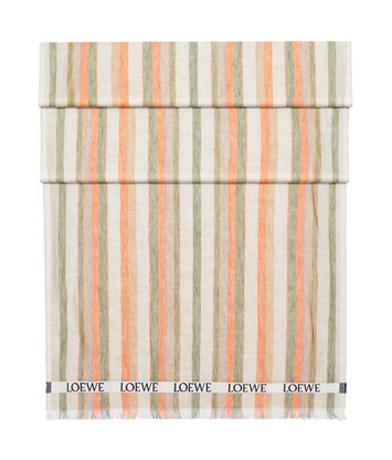 LOEWE 70X210 Scarf Loewe Stripes Multicolor/Naranja front